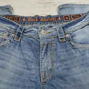 Rock Revival  Chester Distressed Jeans 36X31